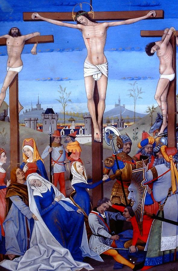 soldats romains jouant aux des crucifixion